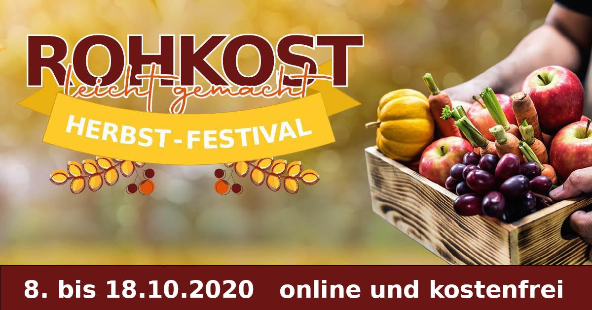 Online Rohkost leicht gemacht 2020 - Herbst-Festival